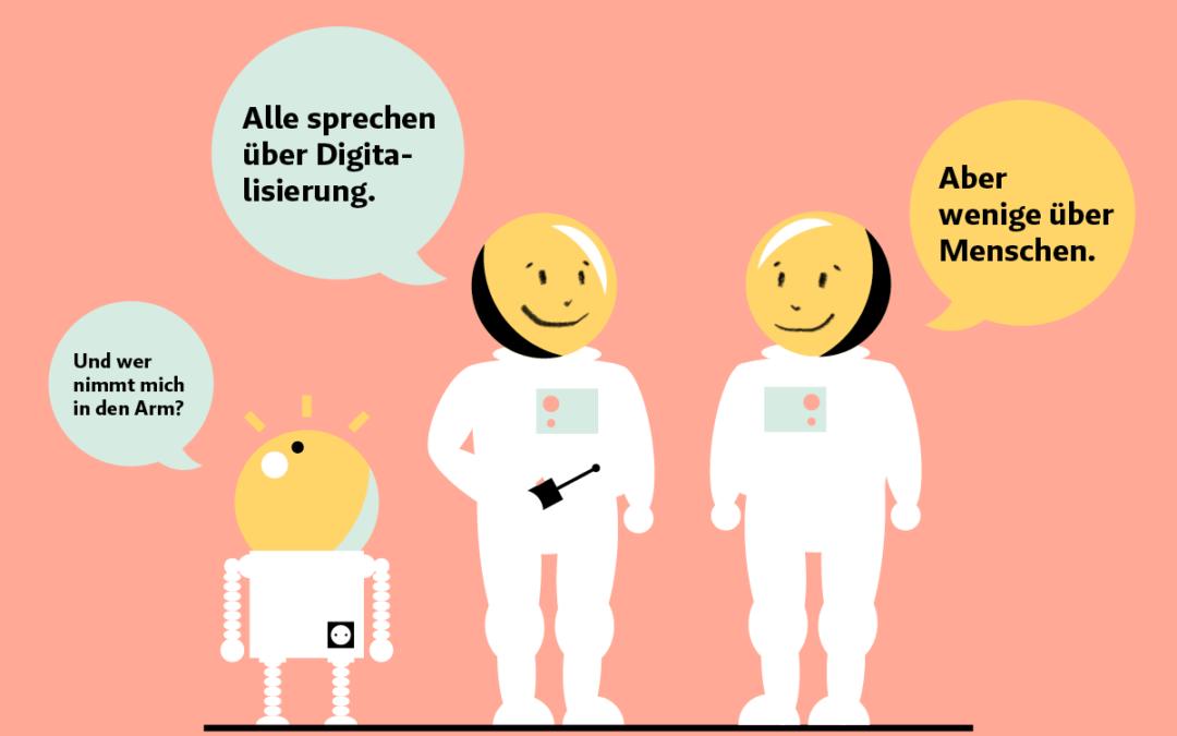 Jo und der Wolfs Digital-Kontroverse. Heute: Wie kann die Glücksbilanz in Zeiten des Digitalisierungshypes optimiert werden?